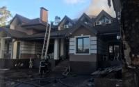 Масштабный пожар под Киевом: горел ресторанный комплекс