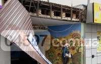 Под Киевом на вокзале ветер сдул крышу