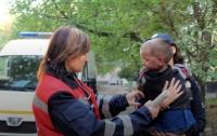 Из горящего здания в Полтаве вынесли маленького мальчика