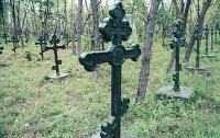 За пиво и продукты трое парней в Донецкой области выламывали кресты и лавки на кладбищах