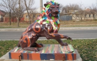 Подаренный львовянами Луганску лев снова цел