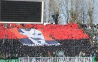 Болельщики «Карпат» и «Динамо» мирно прошли под флагами УПА и с портретами Бандеры