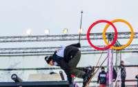 В Киеве спортсмен выполнил уникальный трюк на сноуборде (видео)