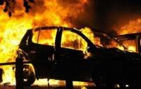 Загорелся автомобиль в результате ДТП