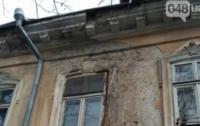Фасад дома обрушился в центре Одессы