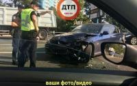 В Киеве произошло жуткое ДТП, мотоциклист остался без ноги
