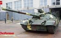 Украинский танк Т-72АМТ отстрелялся