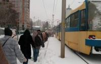 В Киеве на ходу задымился трамвай