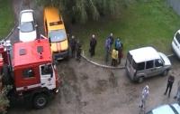 В Ривне пылала многоэтажка: спасатели вывели из огня более 35 человек