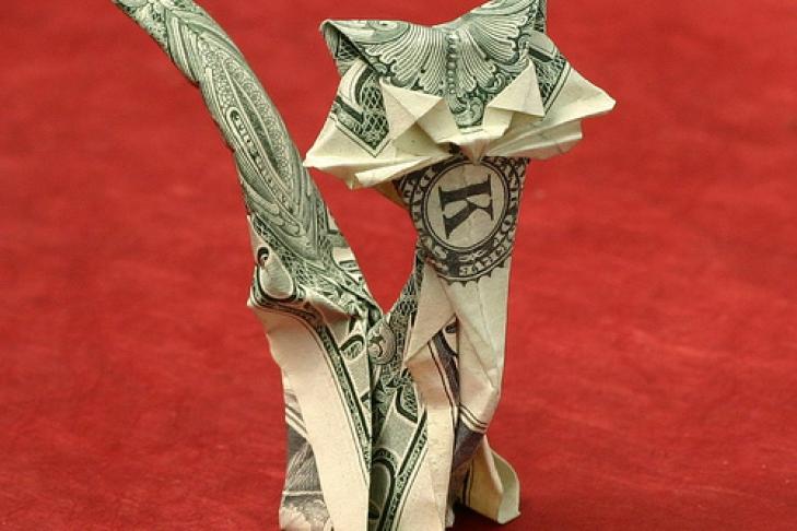 Оригами из купюр фото