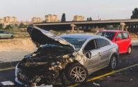 ДТП в Киеве: на Богатырской произошла тройная авария, есть пострадавшие