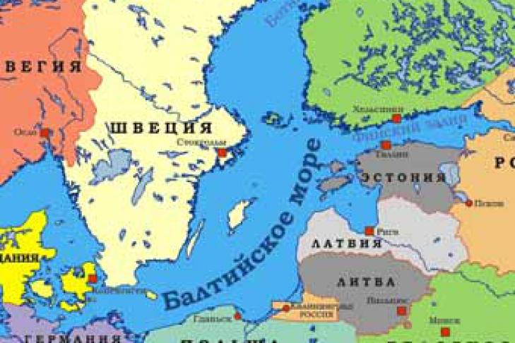 Где находятся на карте балтийское море