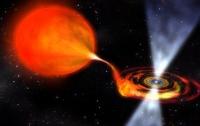 Астрономы заметили как нейтронная звезда вытягивает материю у соседки