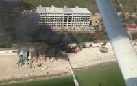На пляже в Одессе вспыхнул ресторан