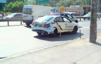 В Киеве произошло ДТП с участием автомобиля патрульной полиции