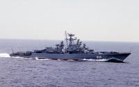 Российский корабль провел артиллерийские и ракетные стрельбы в Черном море