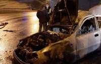 В Харькове в ДТП сгорел коп и женщина