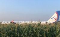 Самолет оккупантов летел в Крым, а приземлился в кукурузном поле