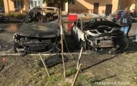 Под Киевом подожгли семь иномарок