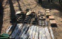 В лесу под Днепром нашли крупный тайник армейских мин и гранат