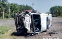 Карета скорой помощи столкнулась с грузовиком