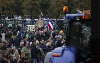 Нидерландские фермеры устроили протест на тракторах