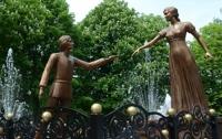 Во Львове появился памятник местным Ромео и Джульетте