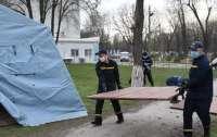 Украинские спасатели оборудовали пункты приема инфицированных коронавирусом