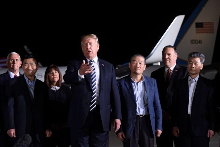 Трамп иКим Чен Ынобъявят обокончании войны