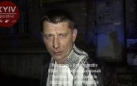 Киевский таксист проехал по детской площадке и пытался съесть ключи от авто (видео)