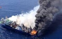 Судно с российскими моряками загорелось в Японском море