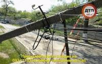 Пьяный водитель оставил без электричества целое село под Киевом