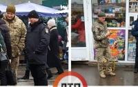 Военные и полиция распугивали парней возле метро