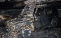 В Киеве сожгли машину