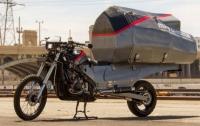 Студент переоборудовал мотоцикл и создал дом на колесах