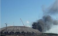 Загорелся стадион чемпионата мира по футболу-2018