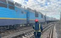 На Ровненщине загорелся пассажирский поезд