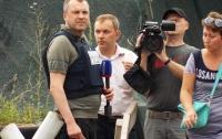 Российский пропагандист приехал посмотреть на строительство украинского моста
