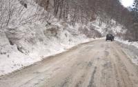 Лавина сошла на автодорогу в Закарпатье