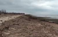 Оккупанты уничтожили пляж в крымском селе (видео)