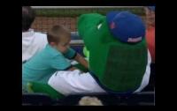 Талисман защитил ребёнка от попадания бейсбольного мяча (видео)