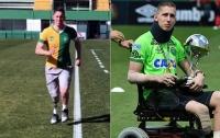 Потерявший ногу в авиакатастрофе вратарь провел первую тренировку