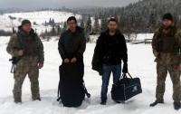 В горах на Львовщине с контрабандой задержали двух французов
