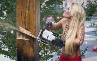 На месте спиленного FEMEN креста установлен новый