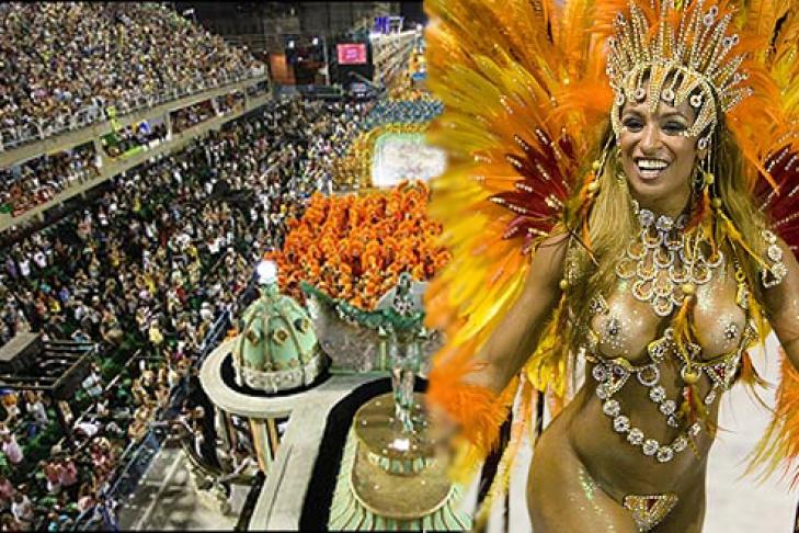 199Бразильский карнавал голые сиськи
