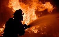 В столичном СТО сгорел Land Cruiser