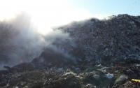 На мусорном полигоне под Харьковом произошел пожар