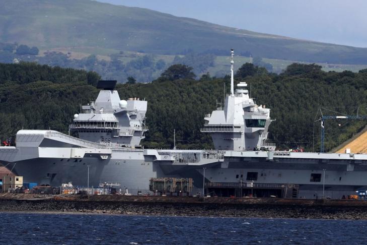 В Великобритании стартуют ходовые тестирования авианосца Queen Elizabeth