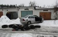 Выносили даже шины: под Киевом поймали