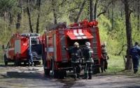 Пожар в центре Киева: пострадали два человека